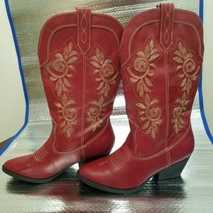Rampage red western cowgirl vinnmo boots size 7.5